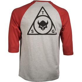 TSG Triad Raglan 3/4 T-Shirt Men heather grey/red